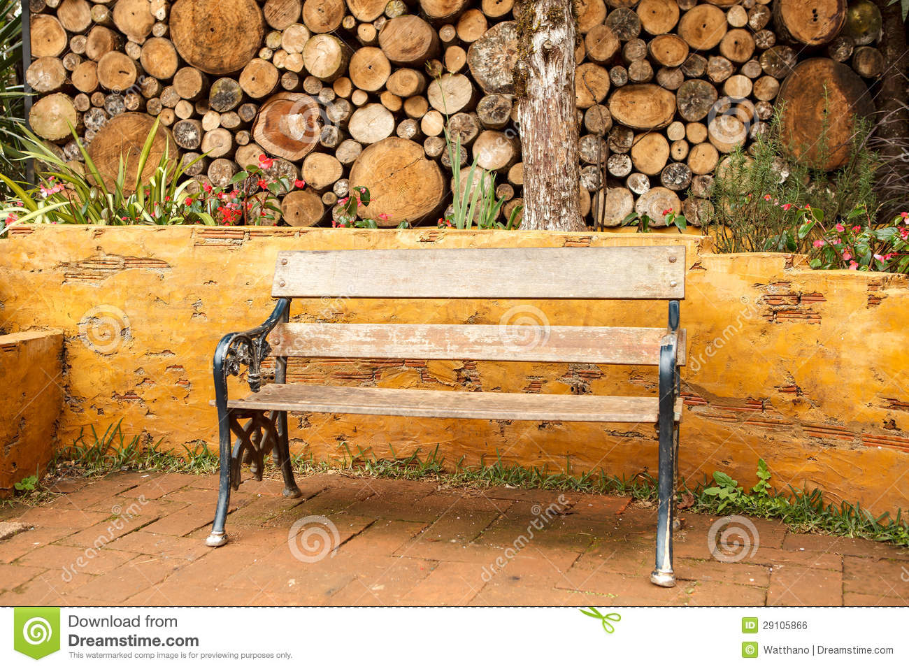 Vintage Wood Chair In House Garden Royalty Free Stock Image Image