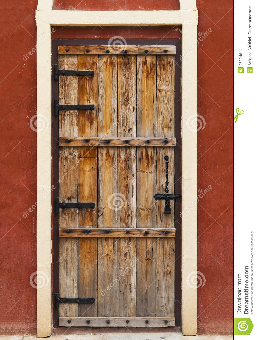 Old Wooden Doors : Vintage wood door stock photo image of fence home