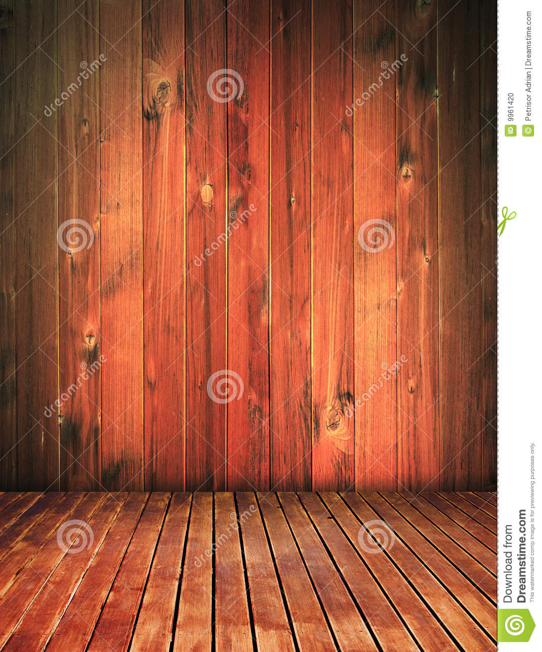 Vintage Wood House Interior Grunge Background Stock Photo