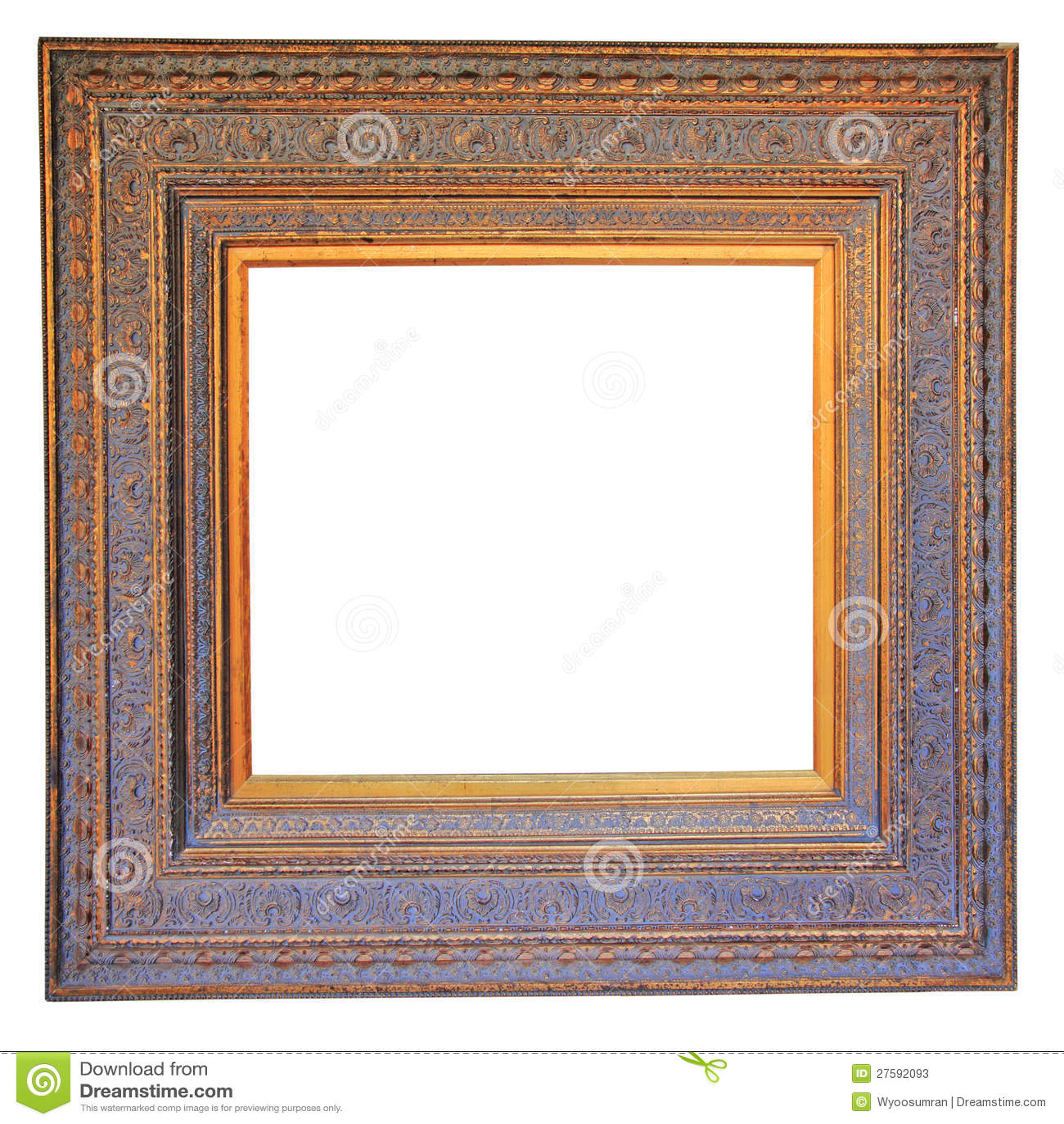 Vintage Wood Photo Frame Stock Photos Image 27592093