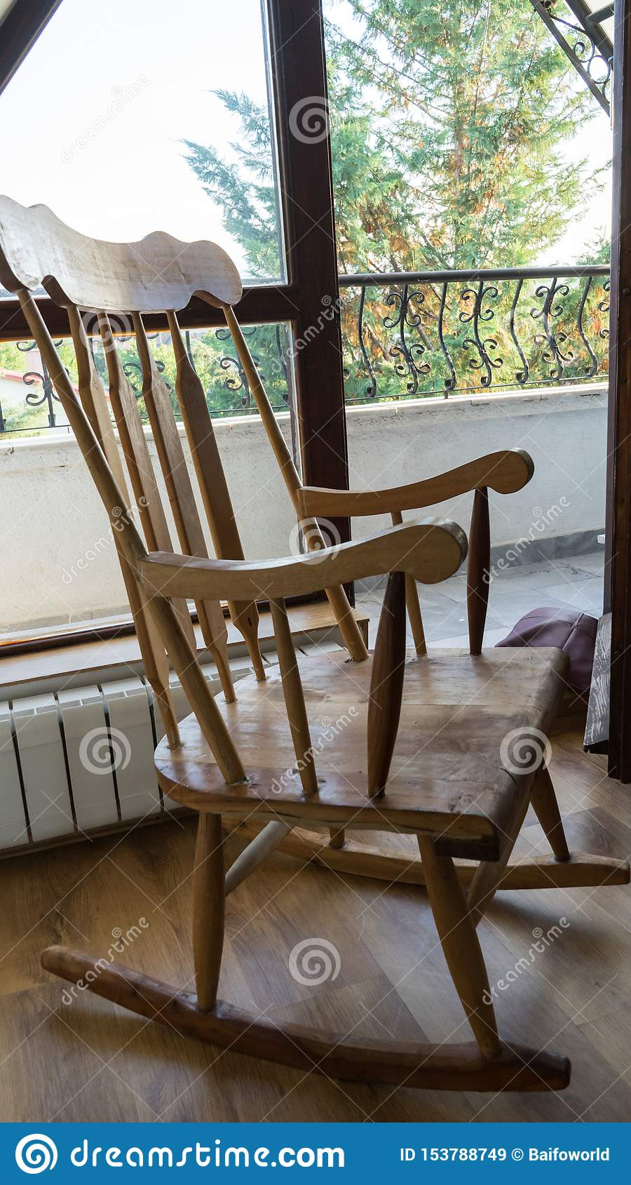 Tremendous Vintage Wood Rocking Chair On Deserted Old Attic Floor Gmtry Best Dining Table And Chair Ideas Images Gmtryco