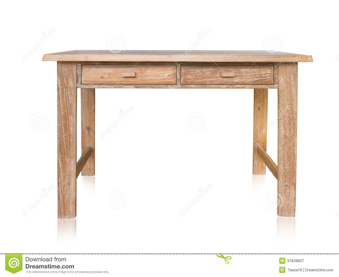 Vintage Wood Table Stock Image Image Of Hardwood Luxury 31848807