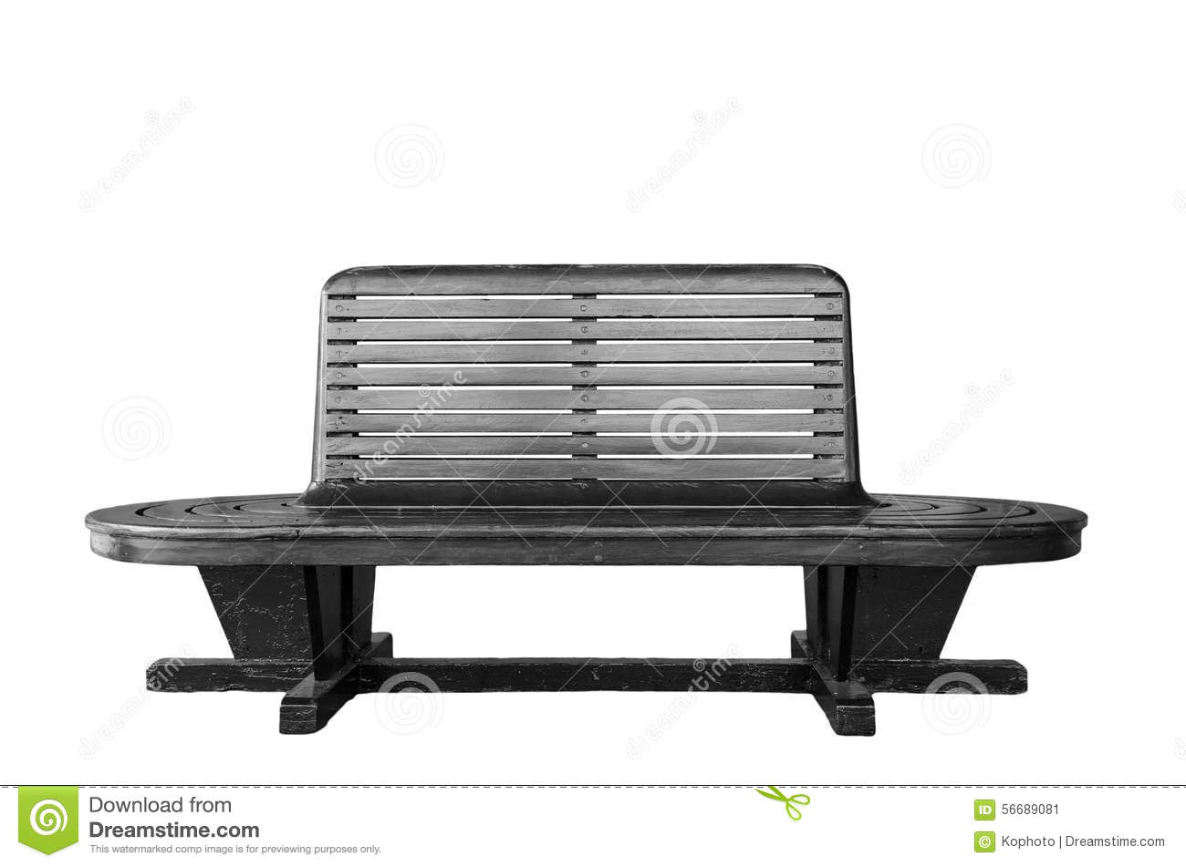 Vintage Wooden Bench Stock Photo Image 56689081