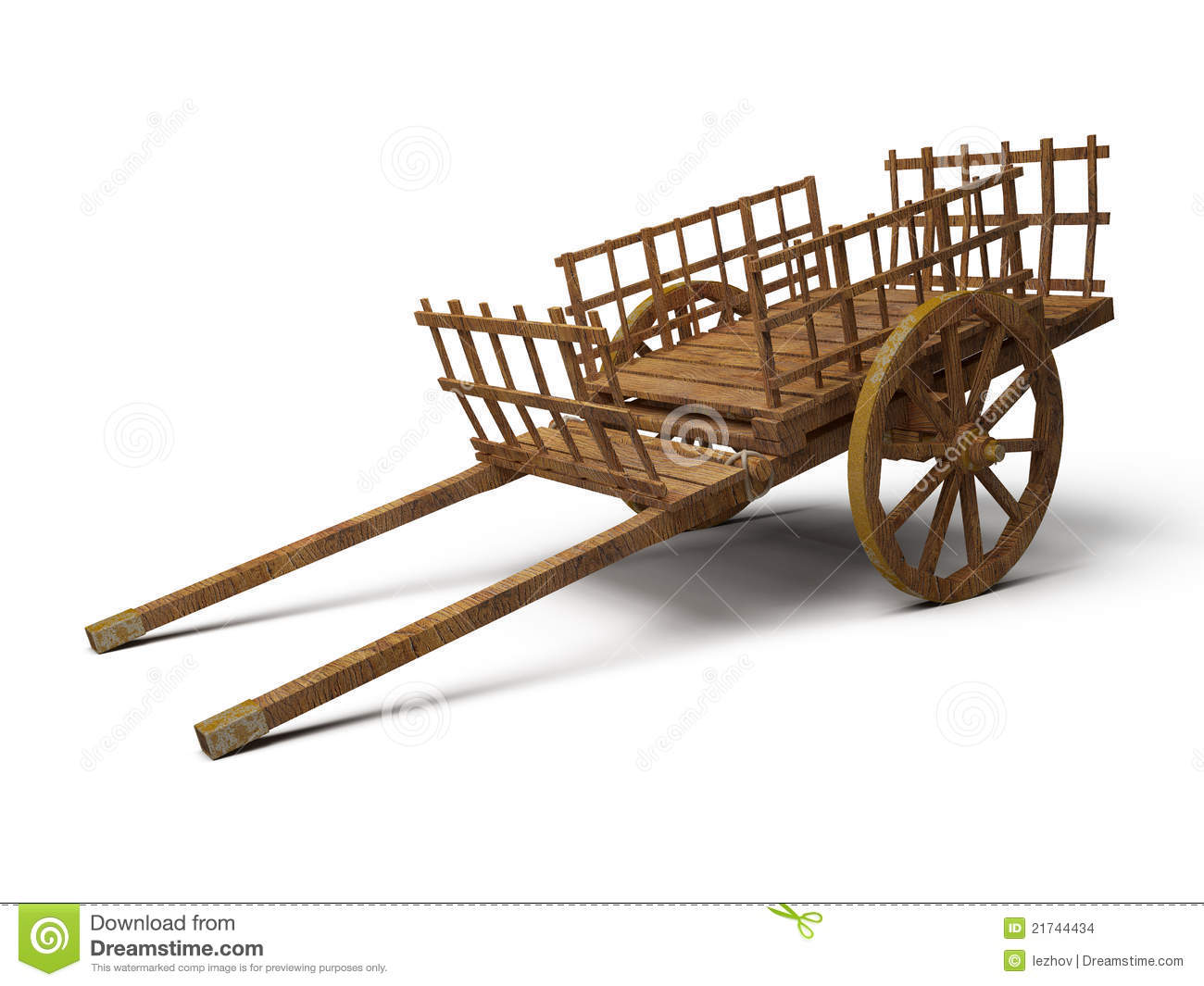 Vintage Wooden Cart Stock Images - Image: 21744434