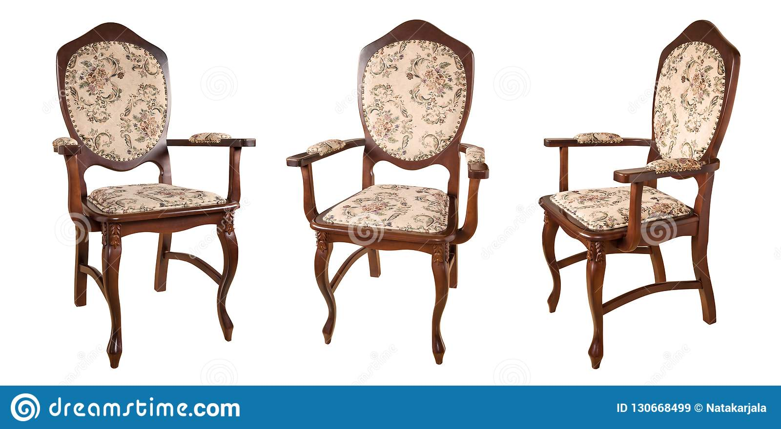 Groovy Vintage Wooden Chairs Isolated On White Background Retro Machost Co Dining Chair Design Ideas Machostcouk
