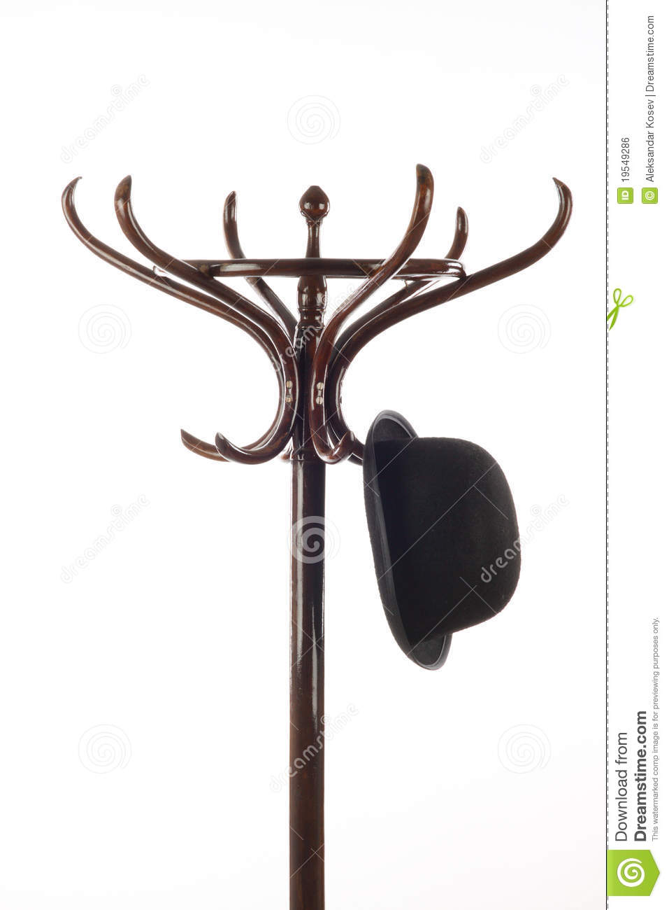 Wooden hat rack stand