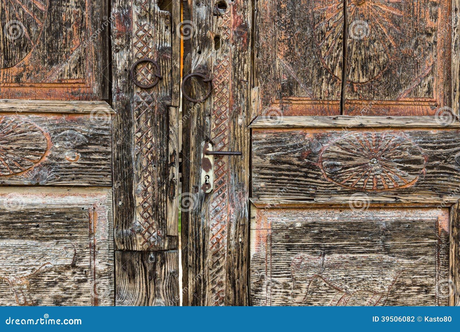 Vintage wooden door.