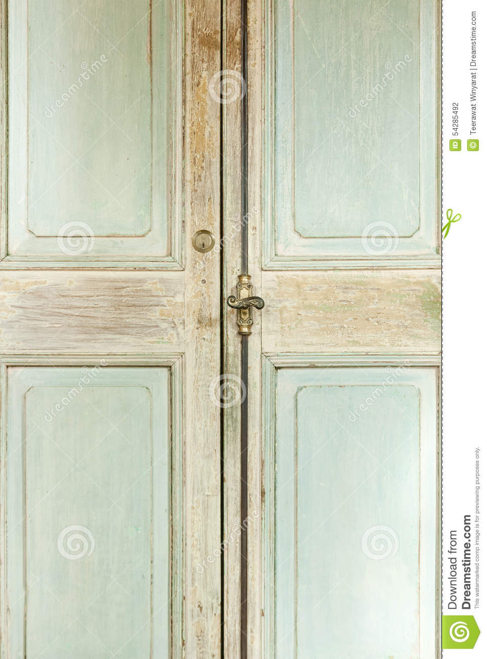 Vintage Wooden Door Frame, Background Texture Stock Photo - Image of ...