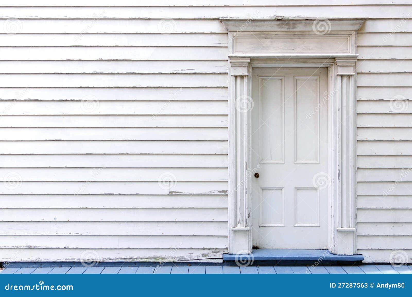 Vintage wooden door wall and window Stock Photos