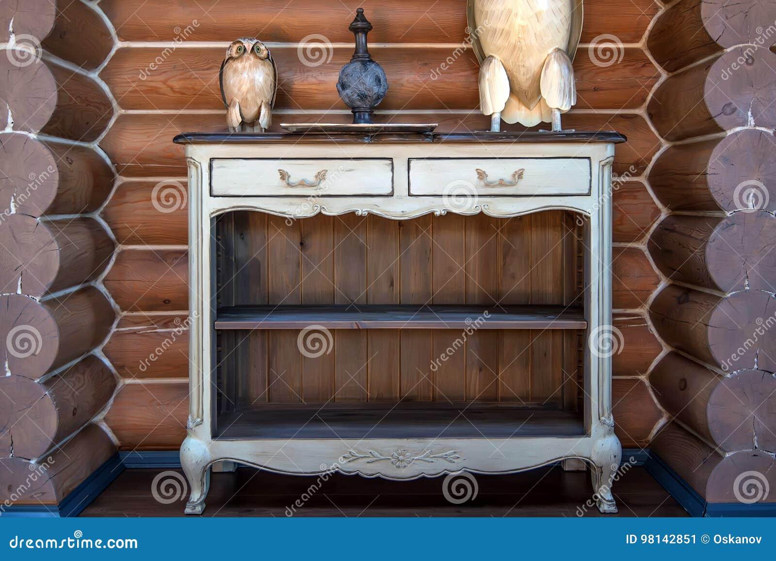 Vintage Wooden Dresser Stock Image Image Of Cupboards 98142851