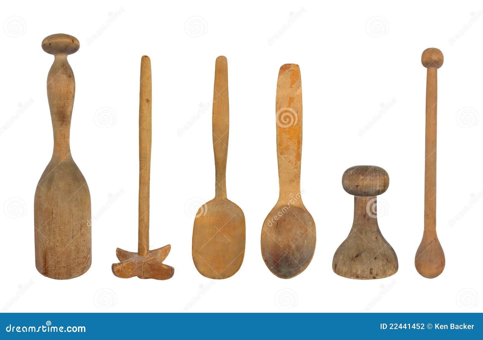 Antique kitchen tools utensils bing images for Wooden kitchen utensils