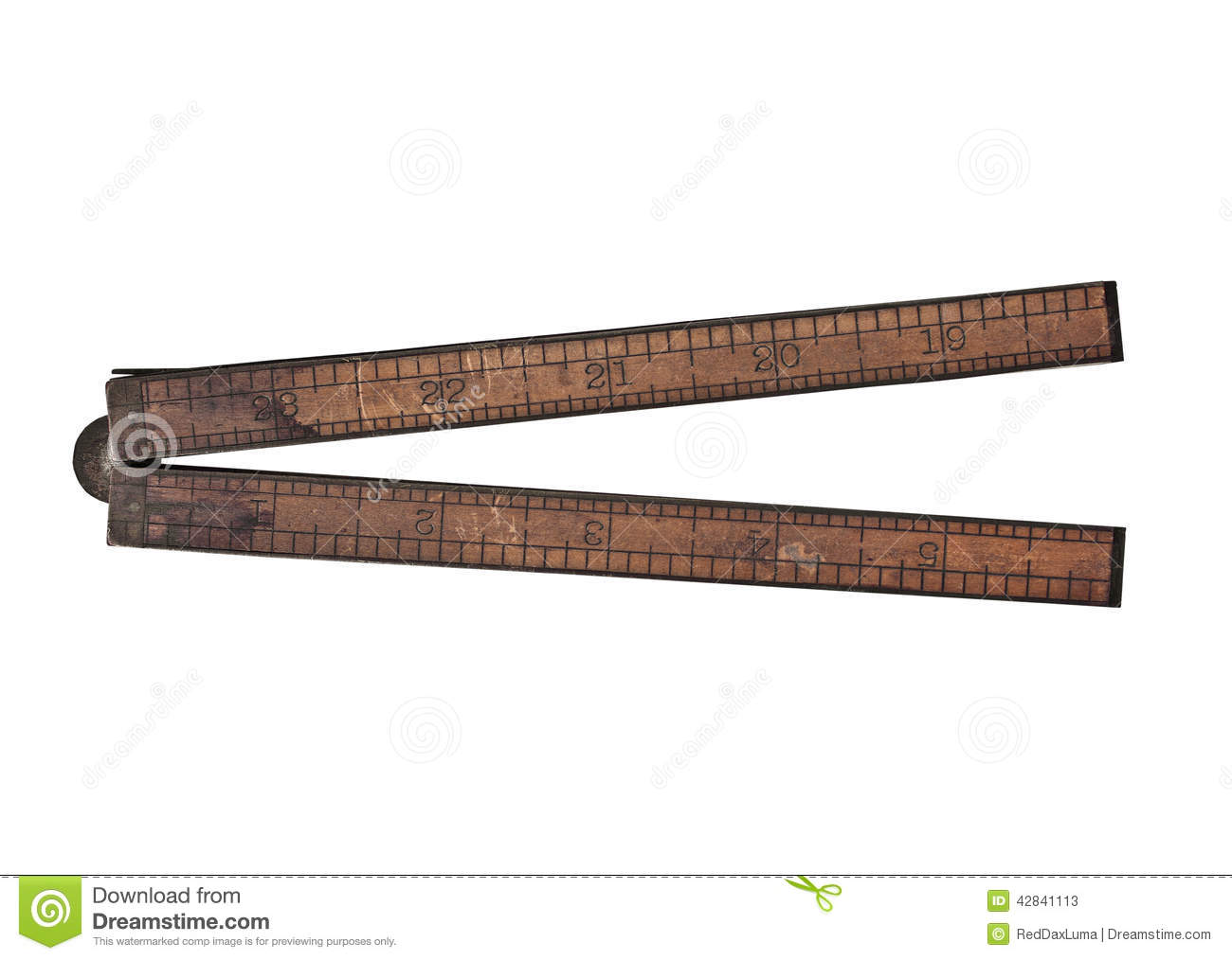 Picture of: Vintage Wooden Ruler Stock Image Image Of Single Length 42841113