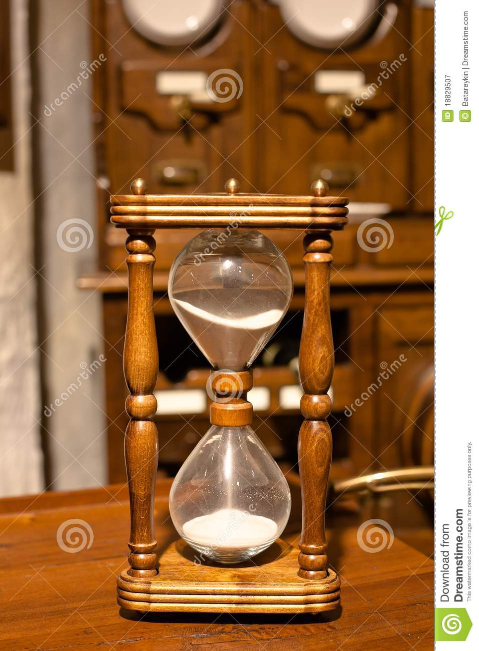 Vintage Wooden Sandglass Royalty Free Stock Photography ...