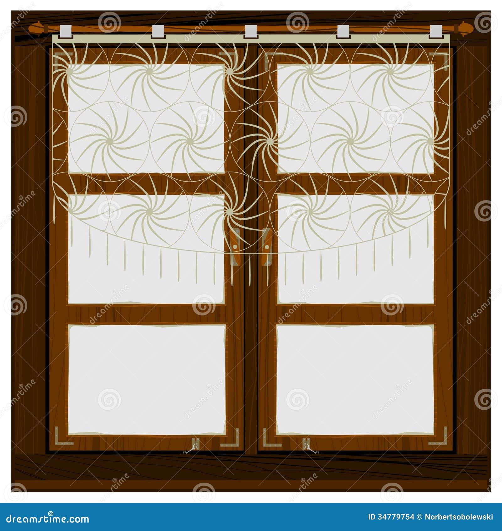 Vintage wooden window stock vector image of design for New wood window design