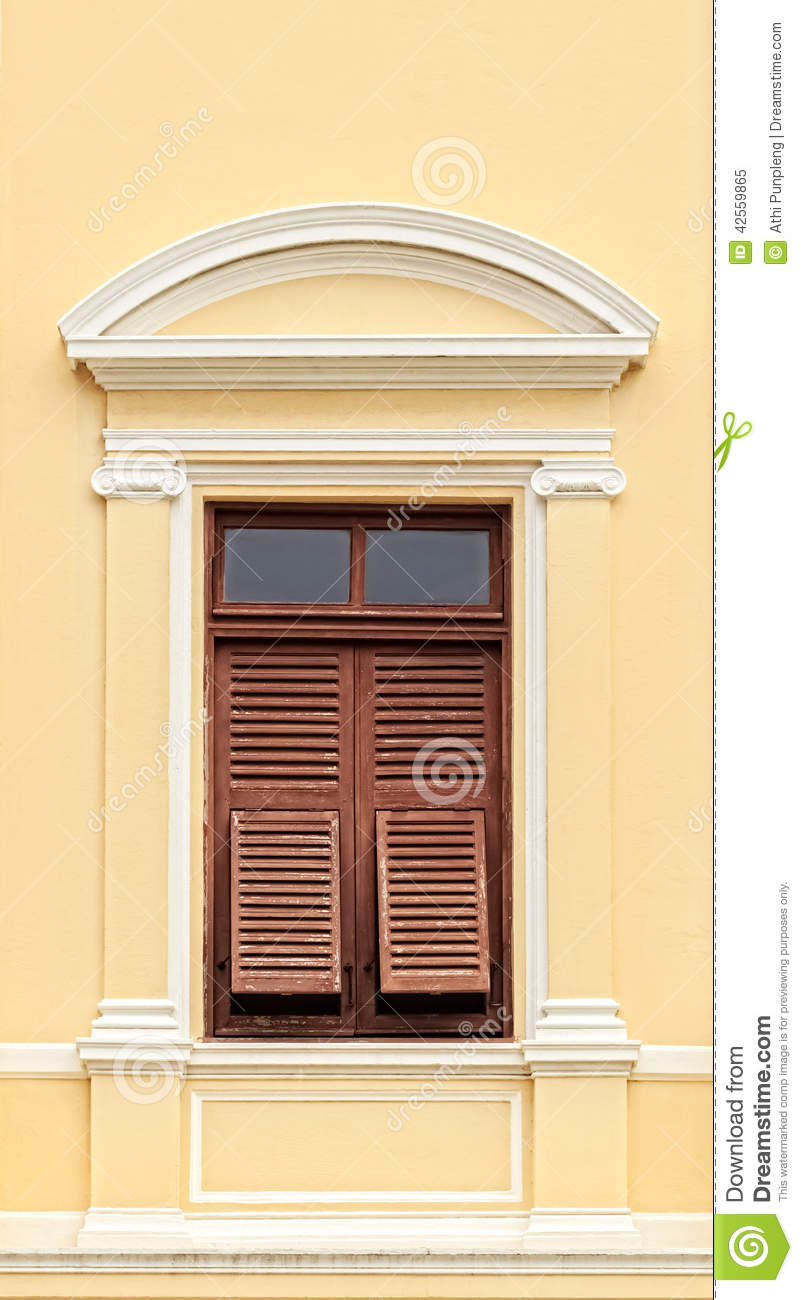 Vintage Wooden Window With Shutters Stock Photo Image 42559865