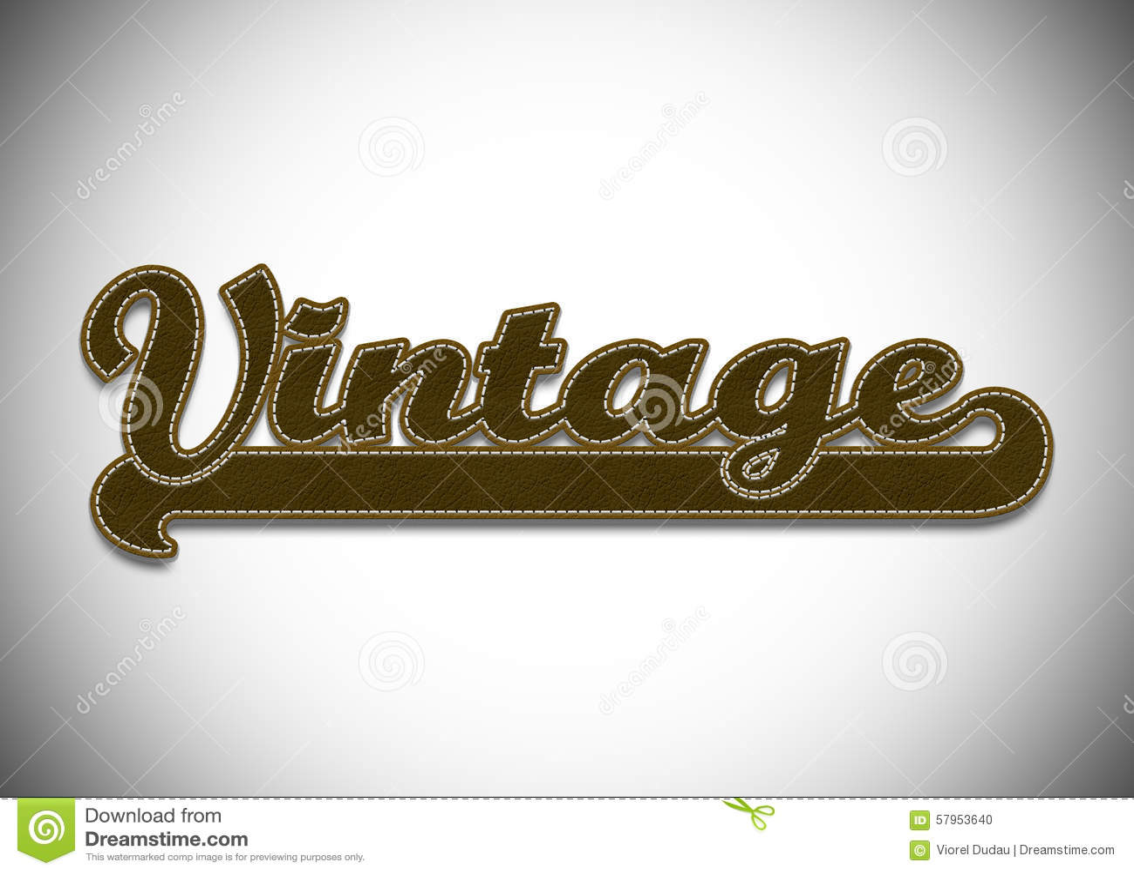 the word vintage