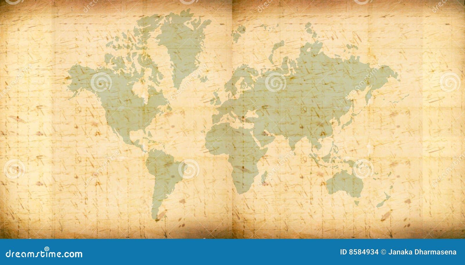 Vintage world map stock illustration illustration of africa 8584934 vintage world map royalty free stock photo gumiabroncs Gallery