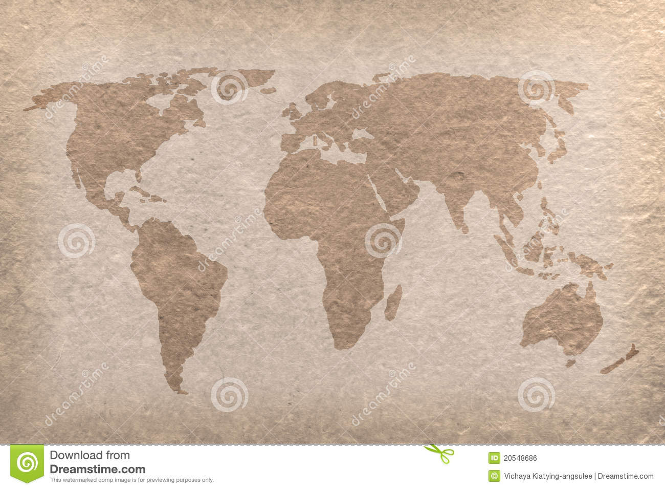 Vintage world map paper craft stock illustration illustration of vintage world map paper craft gumiabroncs Image collections
