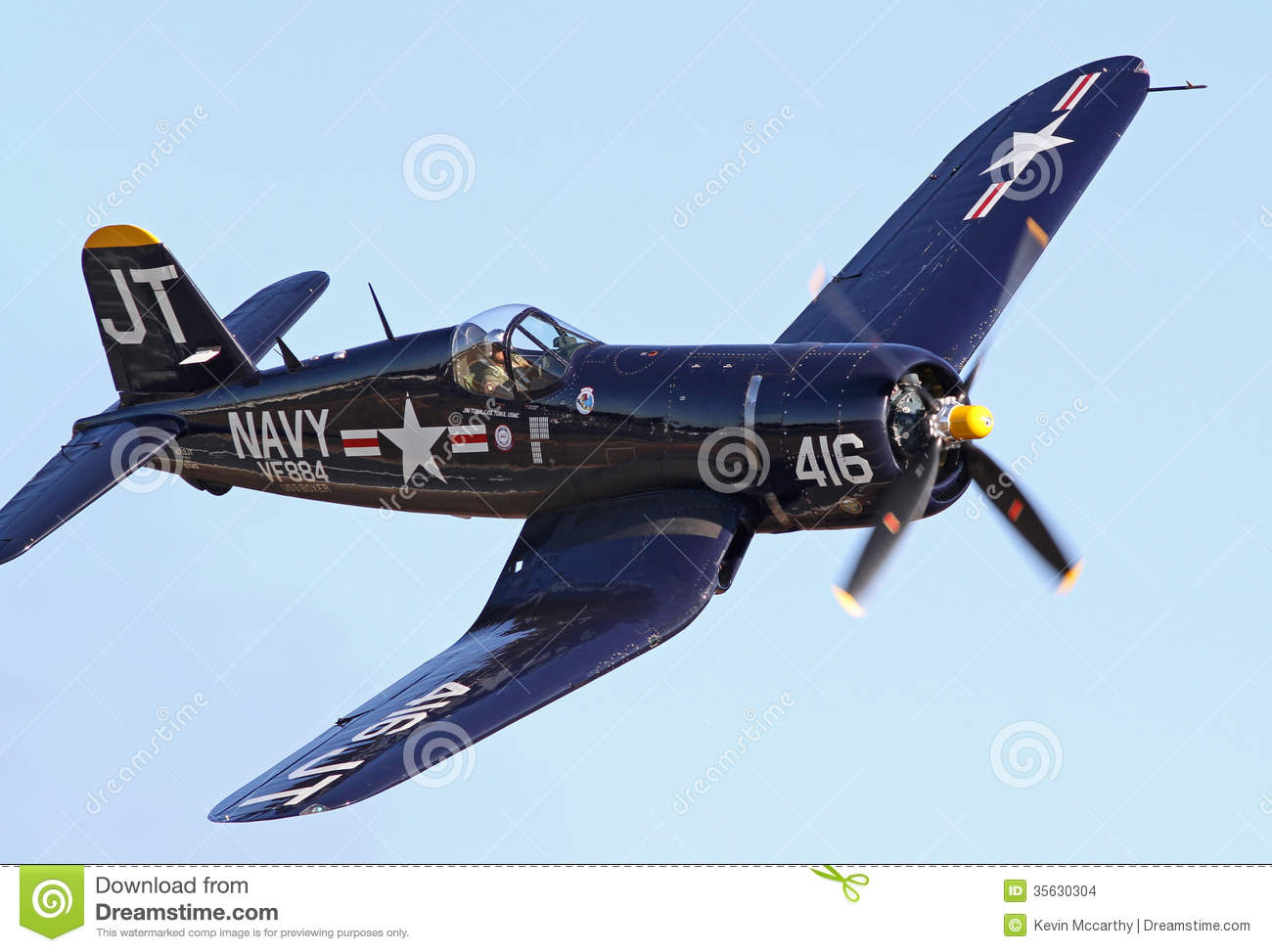 Vintage World War II Corsair Fighter Editorial Stock Image - Image ...