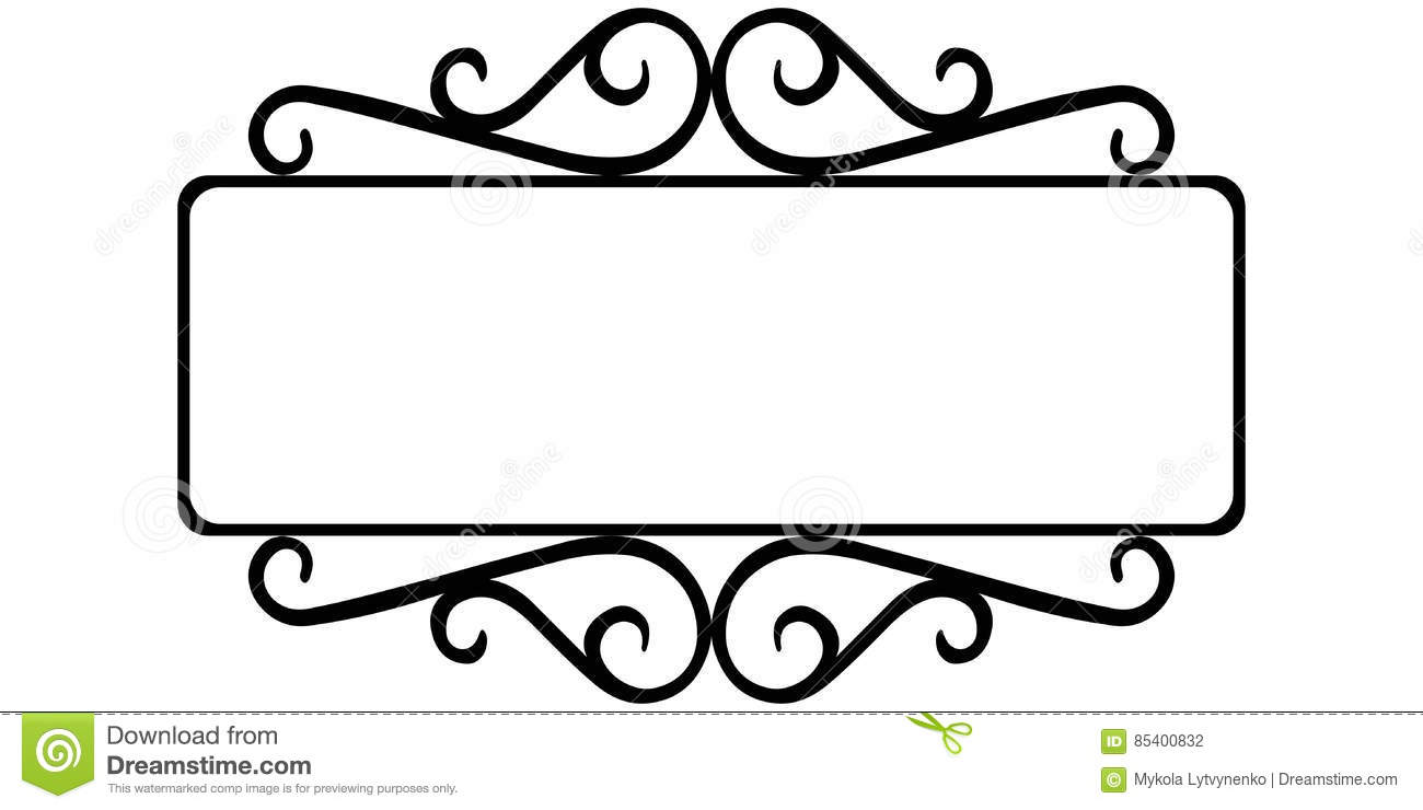 Vintage wrought iron frame stock vector. Illustration of ...