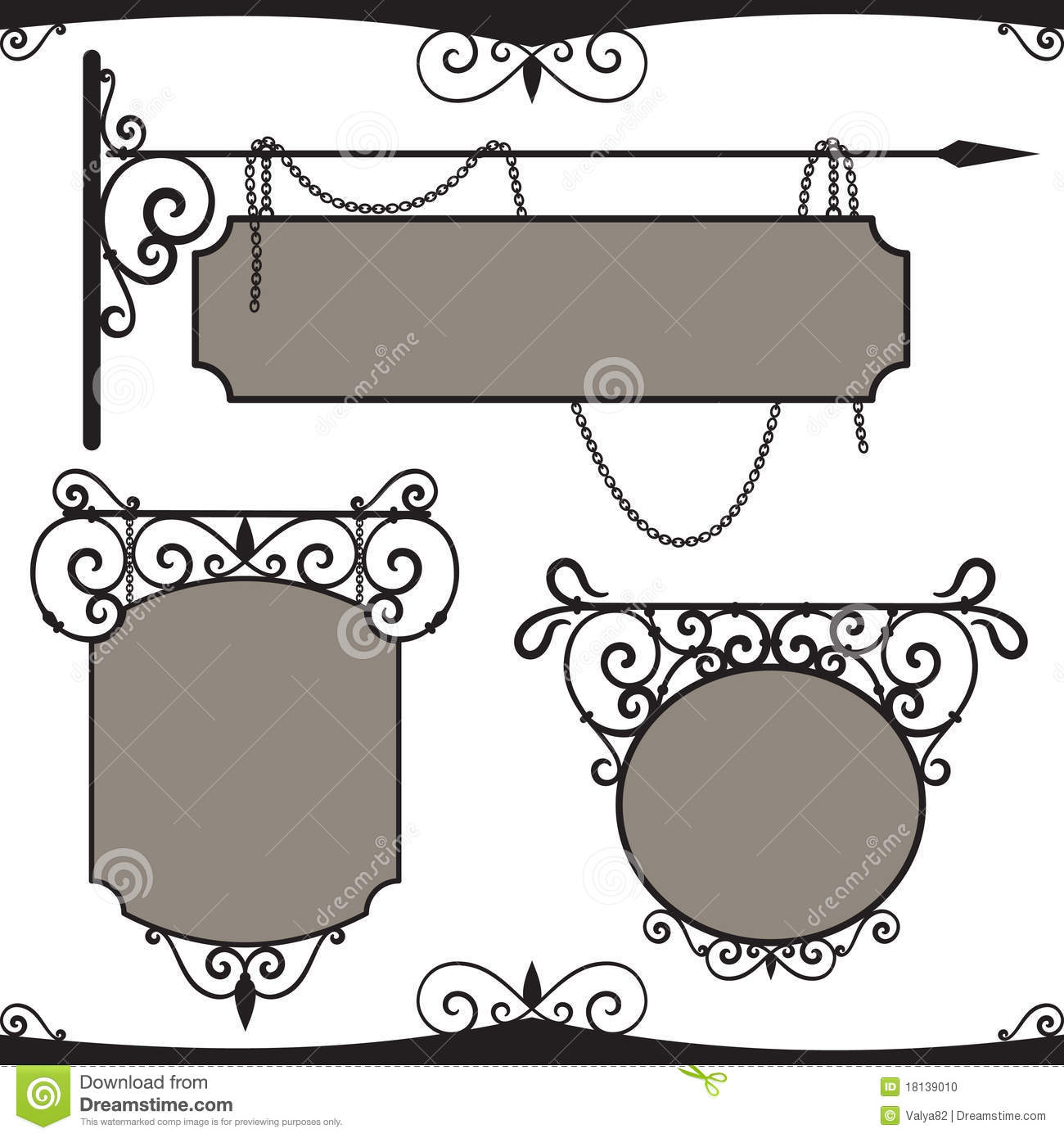 wrought iron signs stock illustrations 73 wrought iron signs stock