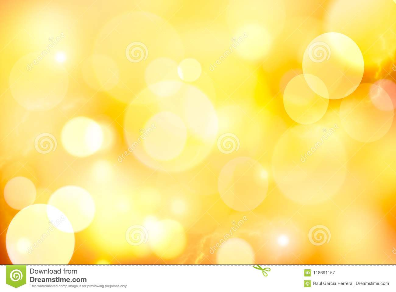 Vintage yellow bokeh abstract background.