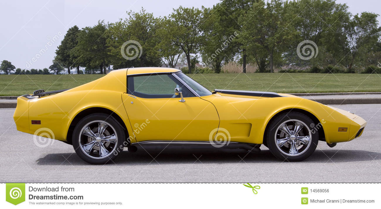 Vintage Yellow Sports Car Royalty Free Stock Image  Image: 14569056