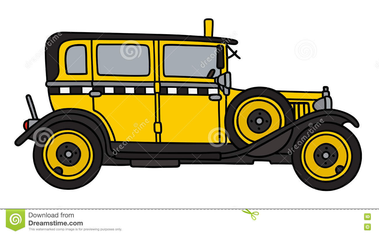 Taxi Cab Transportation Sketch - Image Sketch |Yellow Taxi Cab Drawing