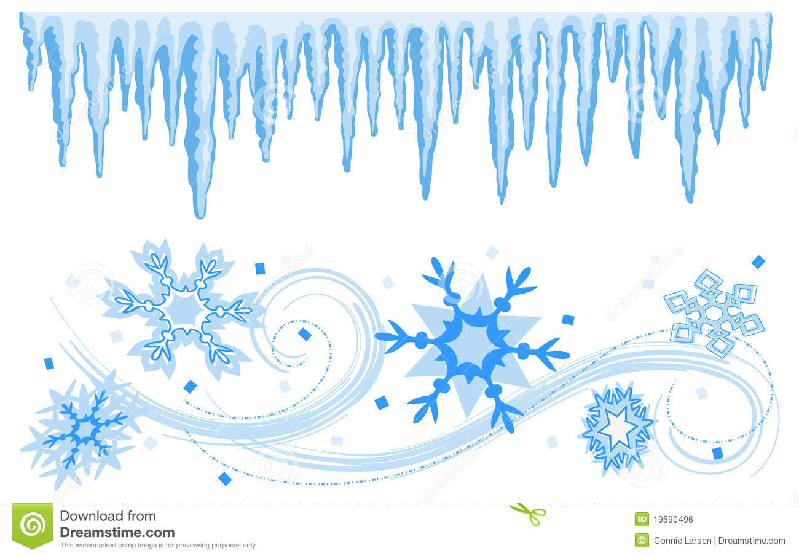 Vinter för banerkanteps