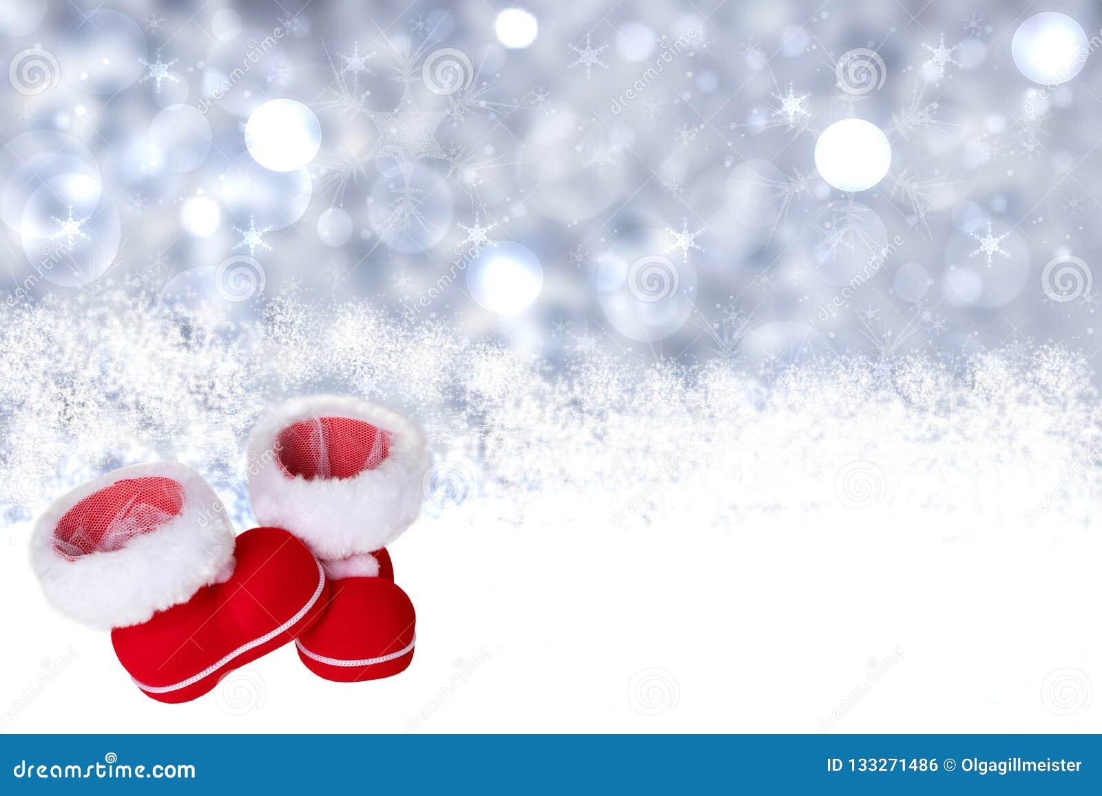Vinter för blåa snowflakes för bakgrund vit Julvinter bakgrund withred Cristmas