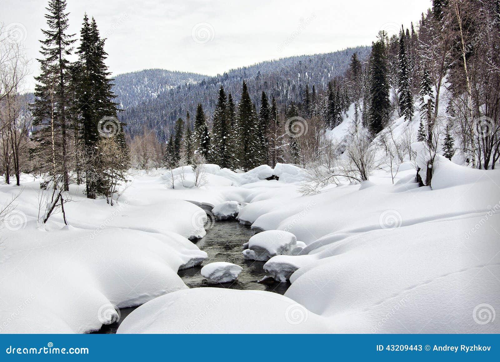 Download Vinter För Fallsströmbubbelpool Fotografering för Bildbyråer - Bild av ström, taiga: 43209443