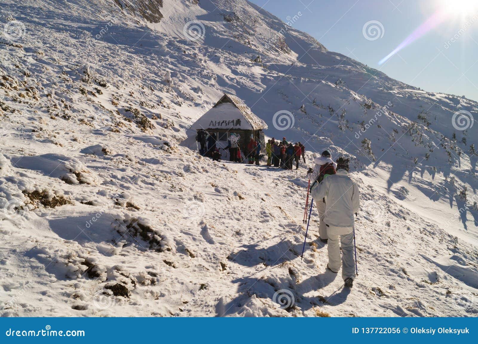 Vinteraffärsföretag Till toppmötet carpathians ukraine