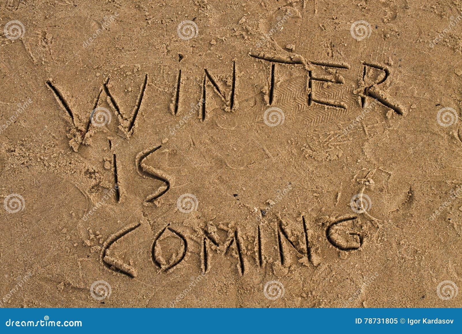 Vintern är det kommande tecknet på stranden