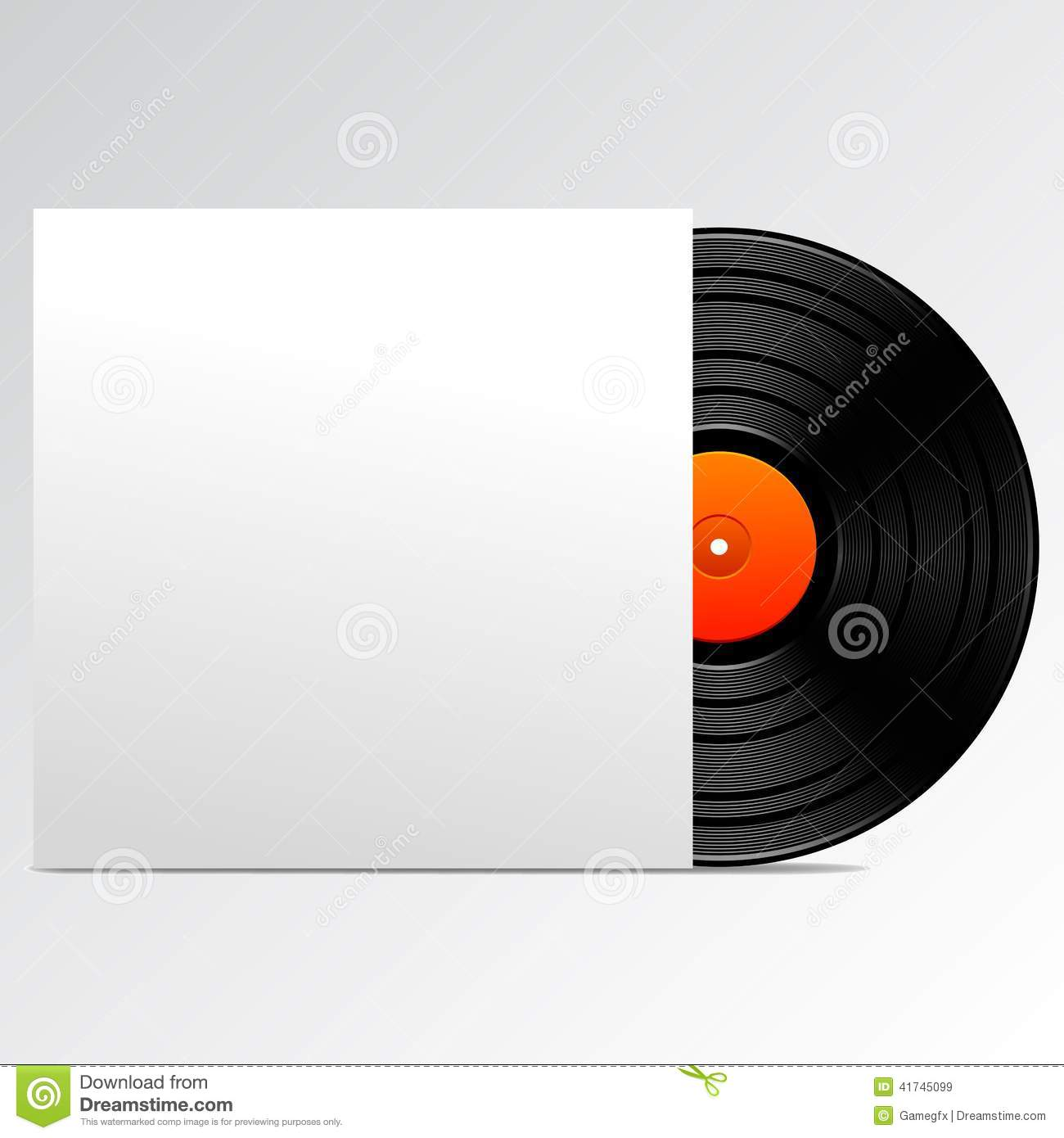 Vinyl Disk With Blank Cover Stock Vector Image 41745099