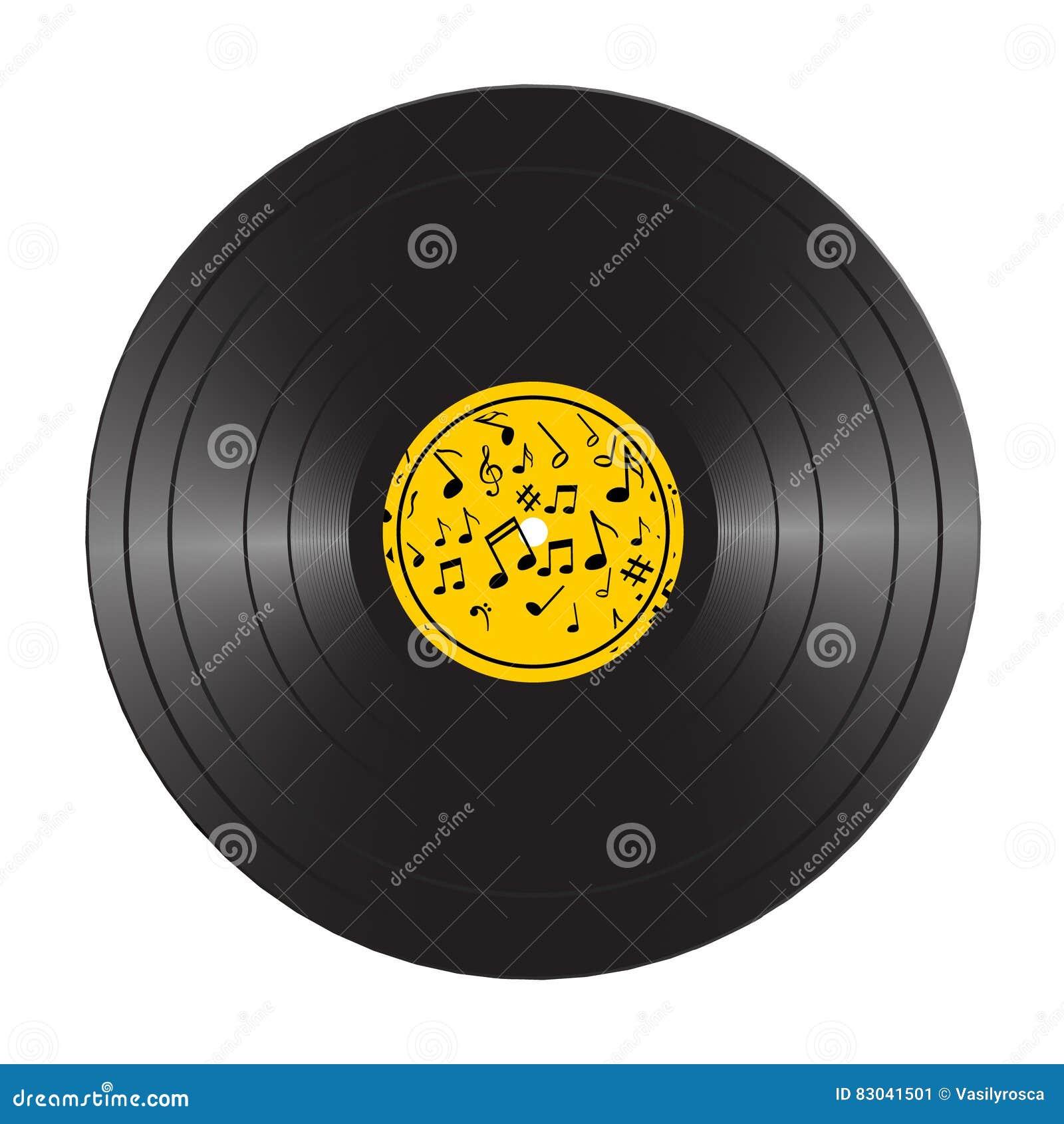 Vinyl LP Record Disc. Black Musical Vinyl Album Disc. Realistic ...