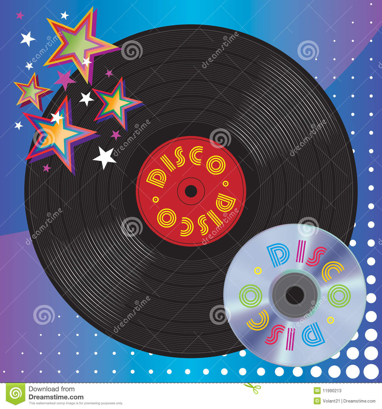 Vinyl Plate And Digital Laser Disc Stock Photos Image