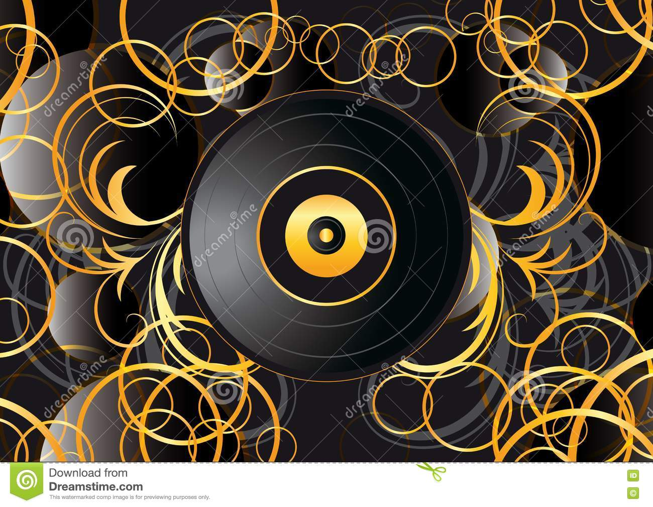 Vinyl Record Abstract Background Royalty Free Stock Photos