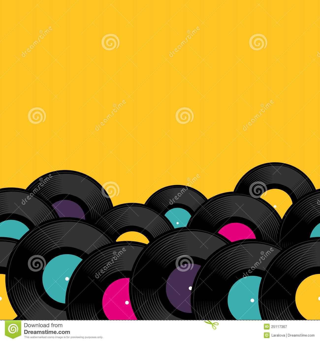 Vinyl Record Background With Space For Text Stock Vector