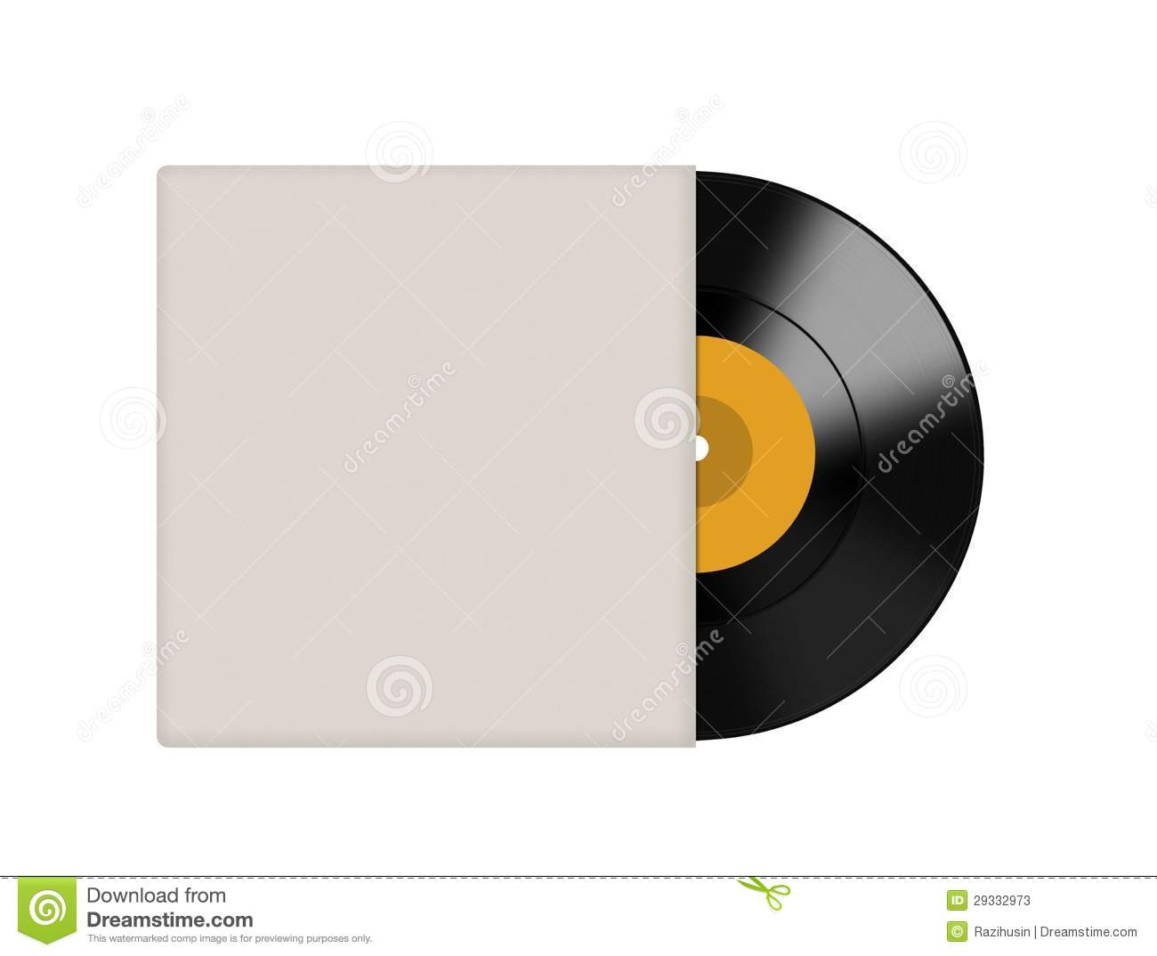 Vinyl Record With Blank Cover Stock Photos - Image: 29332973