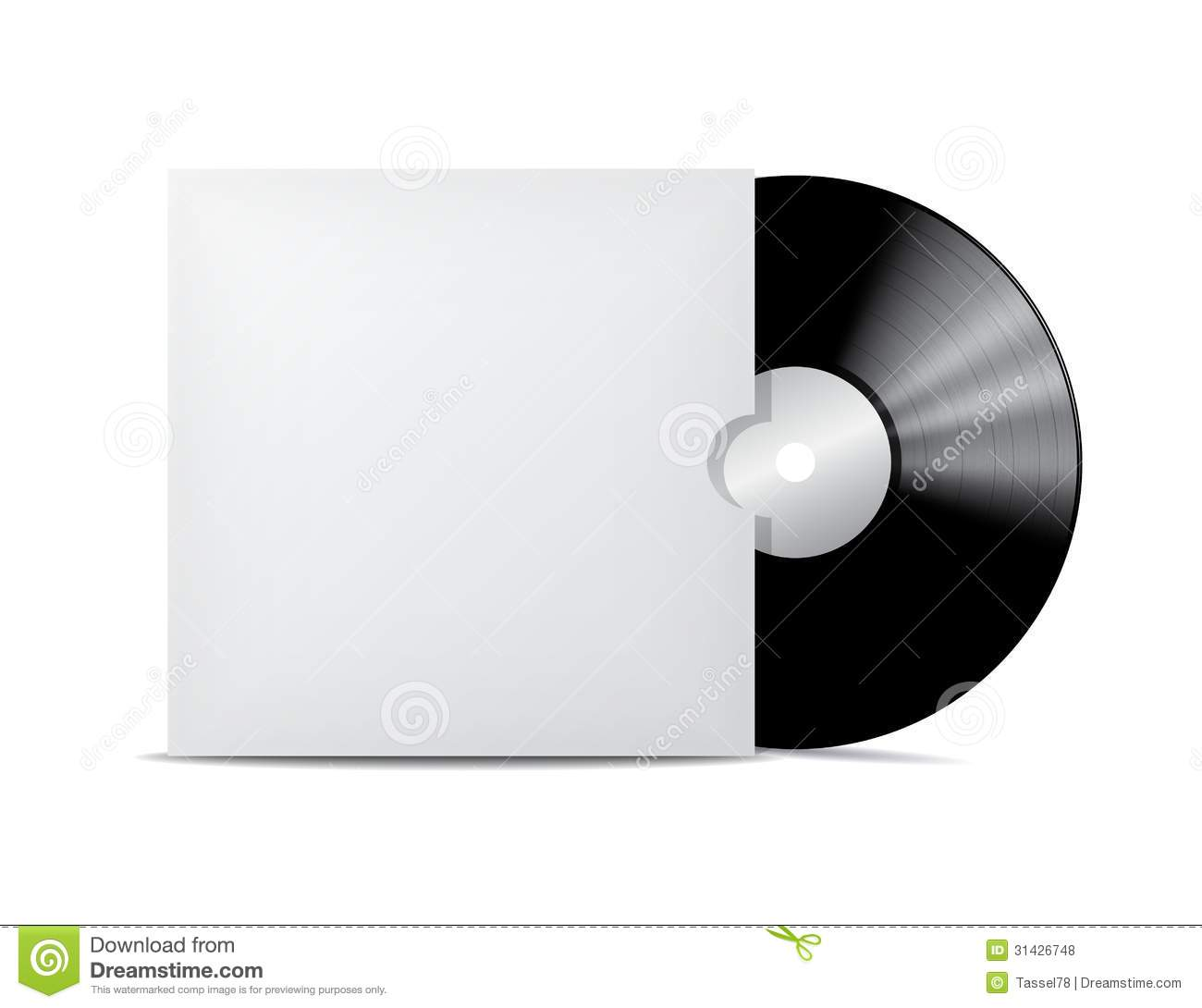 Vinyl Record In Blank Cover Envelope. Royalty Free Stock Photos ...