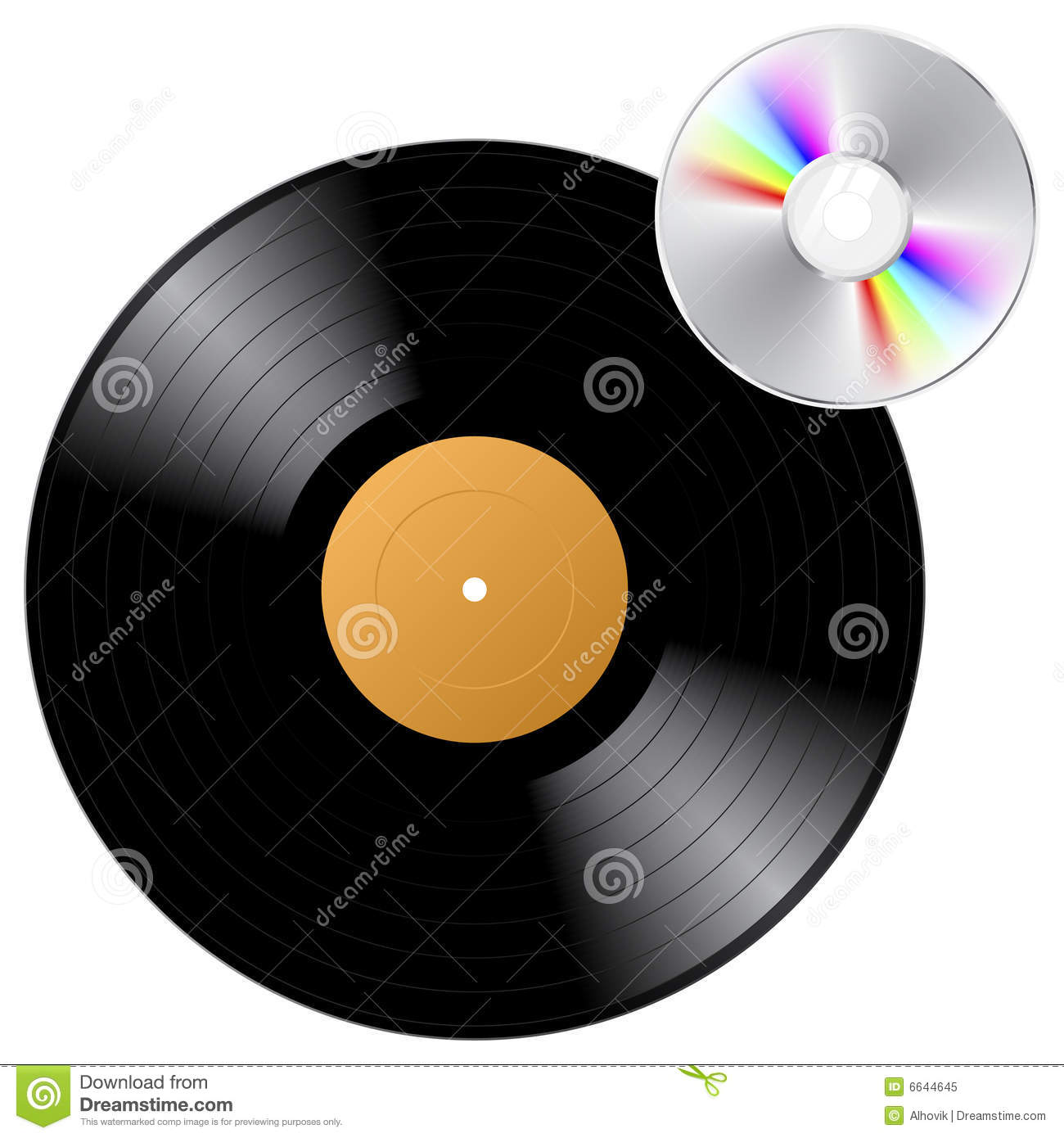 Vinyl Record And Cd Royalty Free Stock Photo Image 6644645