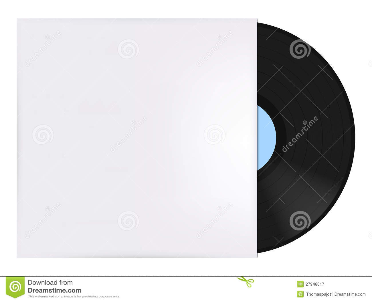 Vinyl record with cover stock vector. Illustration of blue ...
