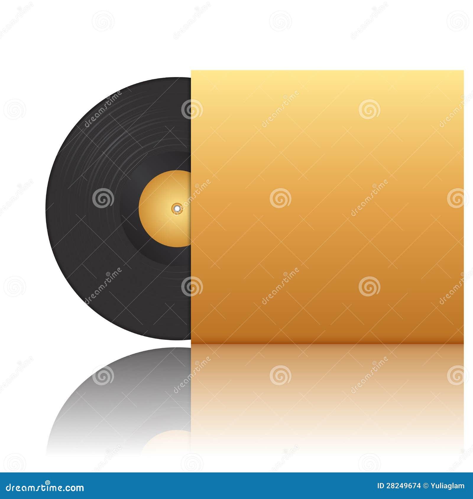 Vinyl record in envelope