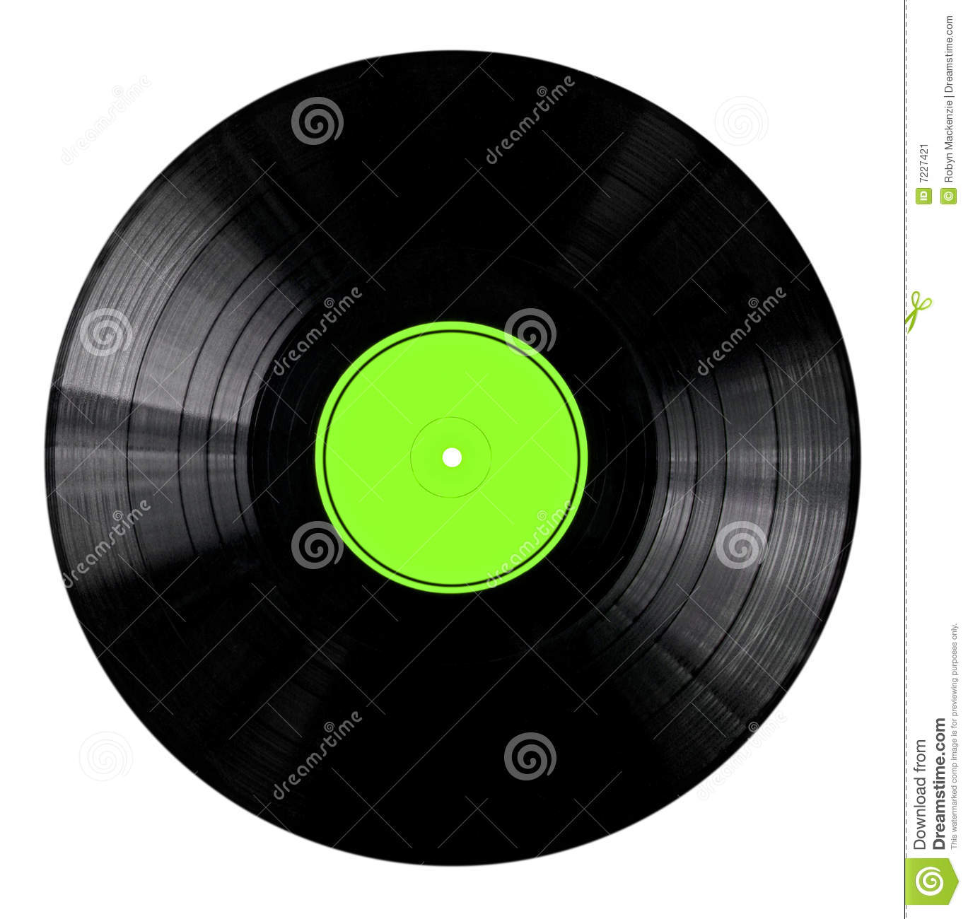 Vinyl Record With Green Label Stock Image Image Of Path