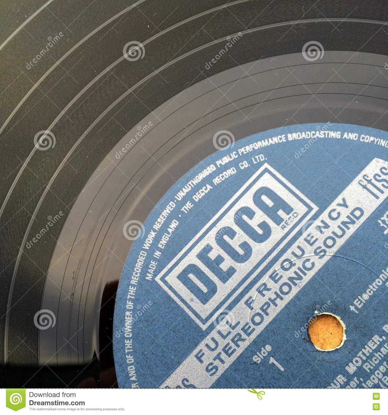 Vinyl Record Label editorial stock photo  Image of vintage - 78619538