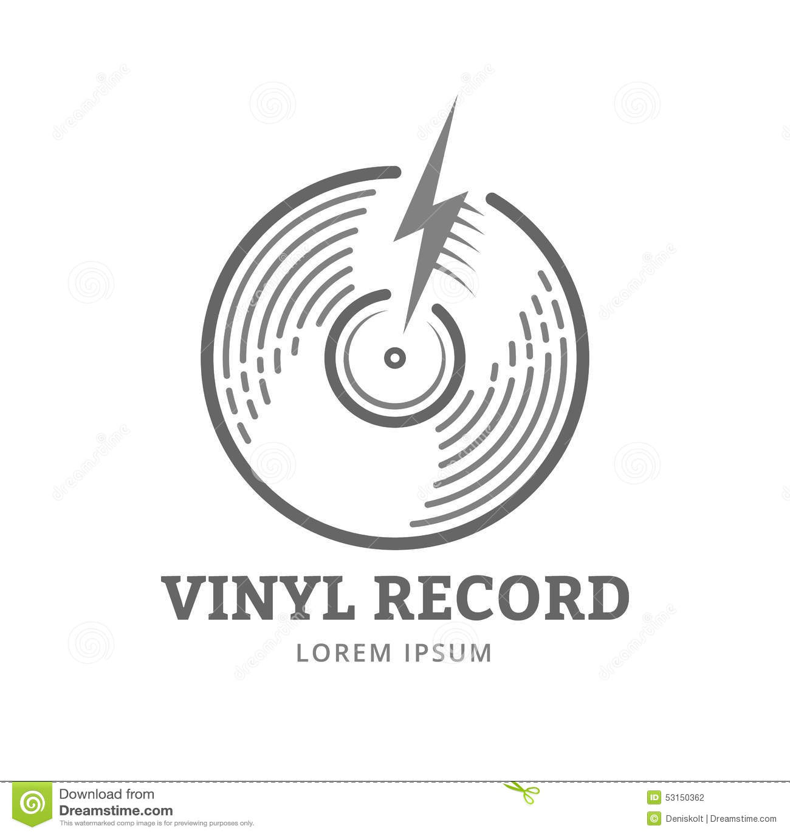Vinyl Record Stock Vector Image 53150362