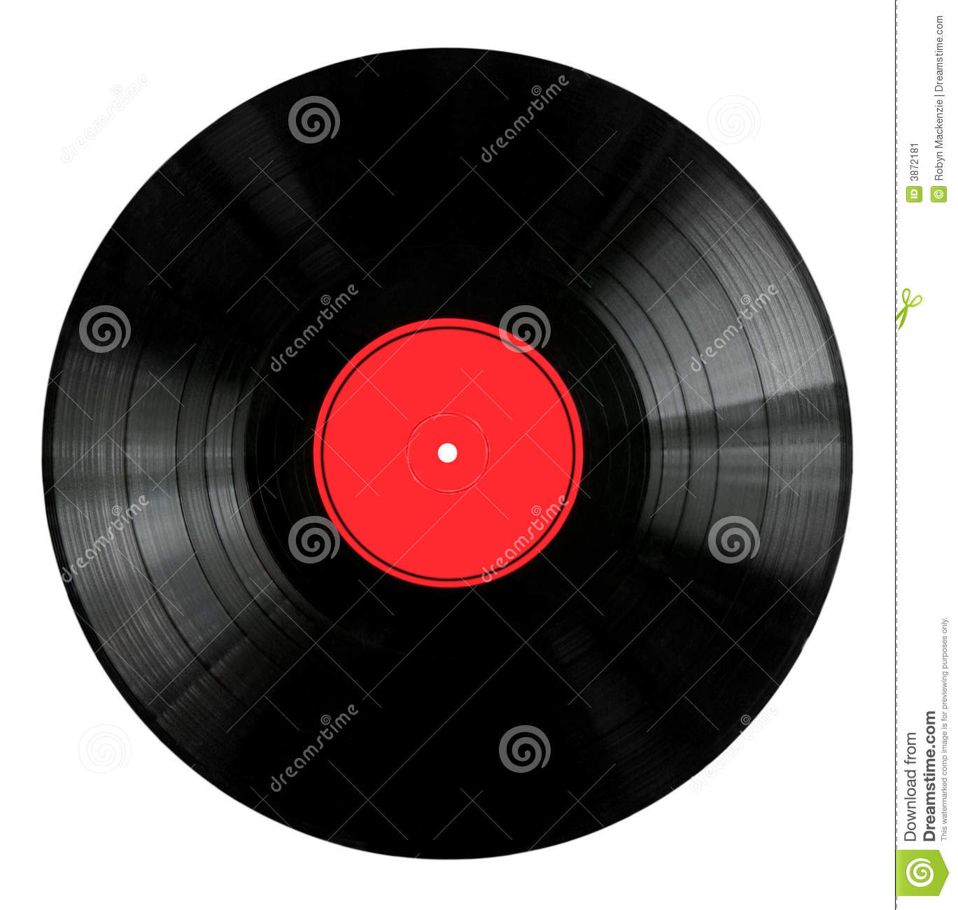 Vinyl Record With Red Label Stock Image Image 3872181