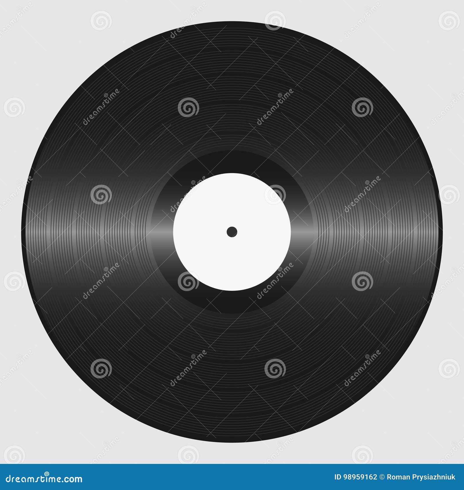 Vinyl record. Retro sound carrier. Plate for DJ Scratch.
