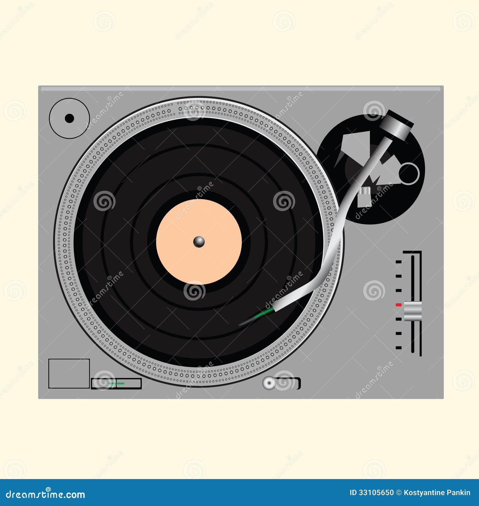 Vinyl Record On Turntable Stock Photo Image 33105650