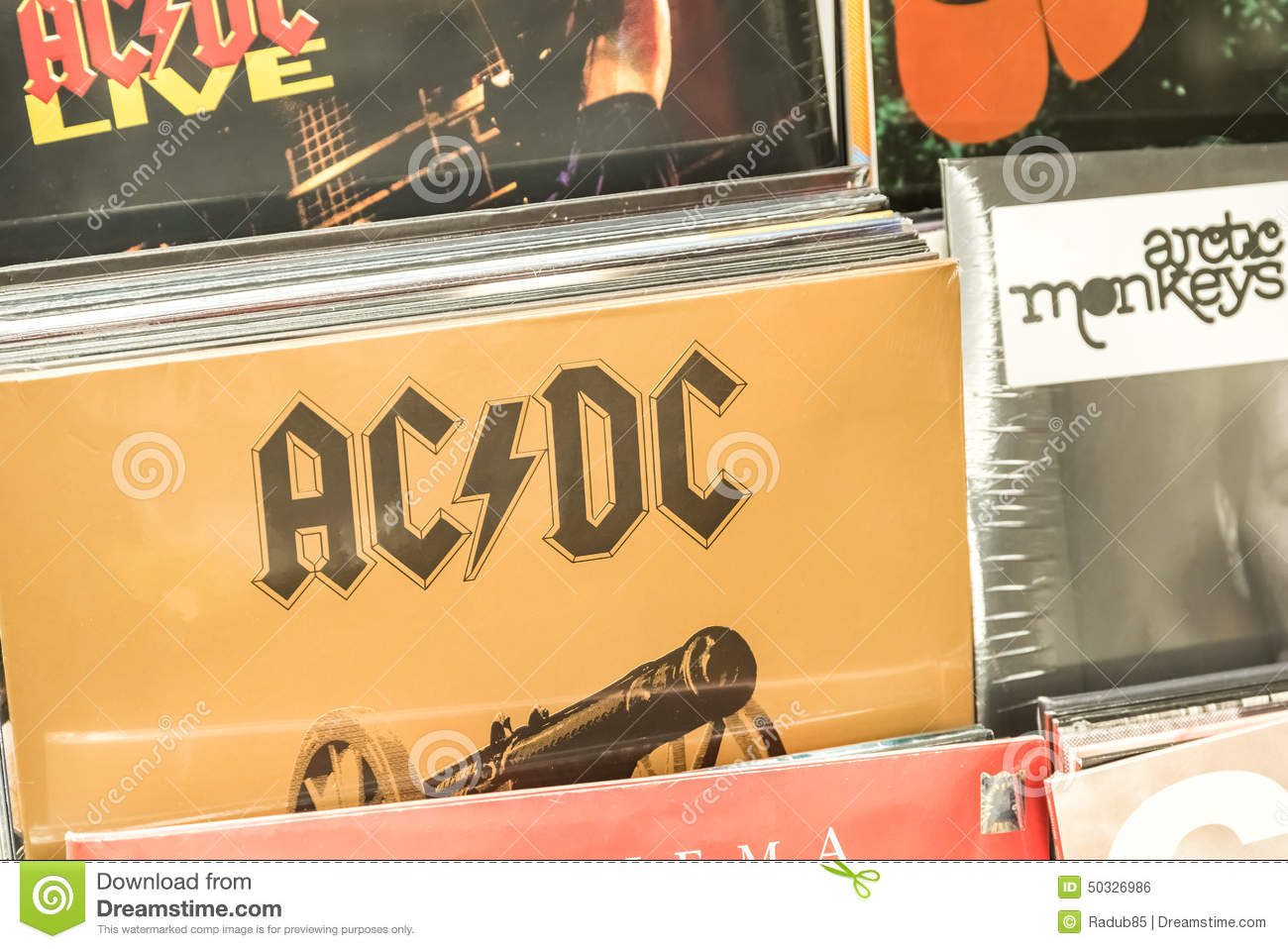 vinyl records featuring famous rock music for sale editorial photo image 50326986. Black Bedroom Furniture Sets. Home Design Ideas